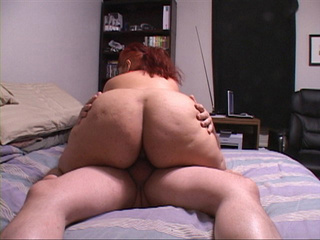 Busty red fatty rising man's boner - Picture 1