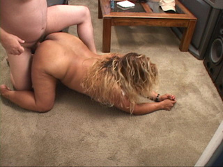 Fat ass latina mom takes a boner into her pooper I doggy - Picture 1