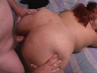 Red ponytailed fatty takes a dick into ass in doggy - Picture 4