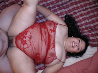 Big titted fatty with long-hair enjoys hard anal banging - Picture 2