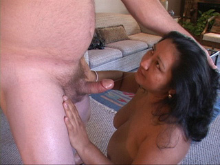 Chubby latina mama giving head before hard anal - Picture 1