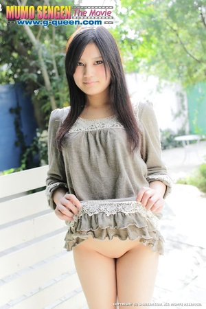 Japanese girl with beautiful eyes takes off her panties - XXXonXXX - Pic 11
