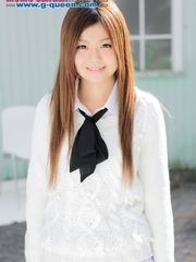 Red Asian school girl in white blouse - XXXonXXX - Pic 2
