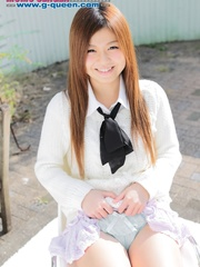 Red Asian school girl in white blouse - XXXonXXX - Pic 3
