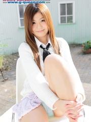 Red Asian school girl in white blouse - XXXonXXX - Pic 4