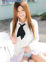 Red Asian school girl in white blouse - XXXonXXX - Pic 5
