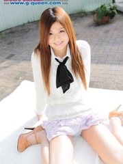 Red Asian school girl in white blouse - XXXonXXX - Pic 6