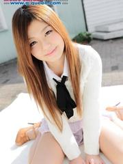 Red Asian school girl in white blouse - XXXonXXX - Pic 7