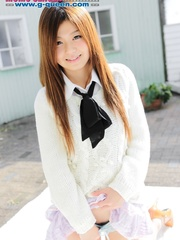 Red Asian school girl in white blouse - XXXonXXX - Pic 9