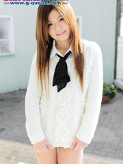 Red Asian school girl in white blouse - XXXonXXX - Pic 14