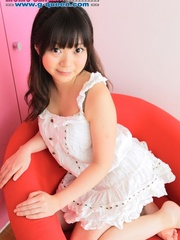 Busty Japanese teen in white dress changing into - XXXonXXX - Pic 1