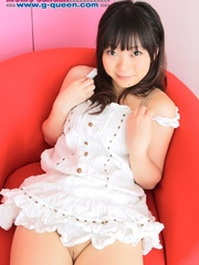 Busty Japanese teen in white dress changing into - XXXonXXX - Pic 8