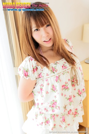 Red Asian teen in flowered dress shows off her tits - XXXonXXX - Pic 2