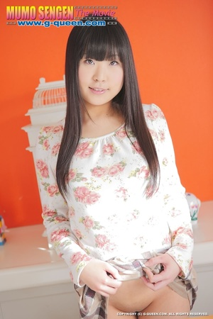 Long-haired Asian teen in stockings exposes her tiny pussy - XXXonXXX - Pic 12
