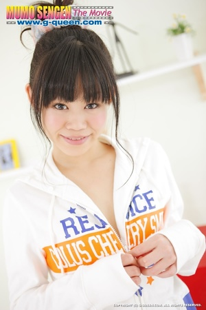Ponytailed Japanese teen gal in jumper gets naked - XXXonXXX - Pic 3