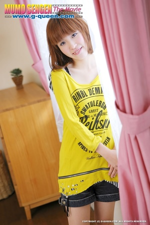 Busty Japanese teen in yellow jumper taking off her lovely panties - XXXonXXX - Pic 2