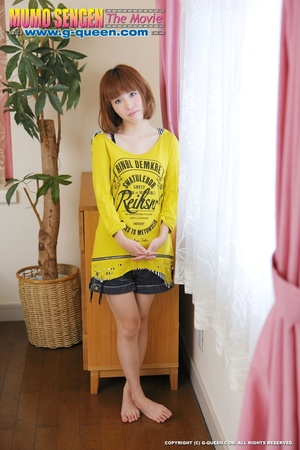 Busty Japanese teen in yellow jumper taking off her lovely panties - XXXonXXX - Pic 4