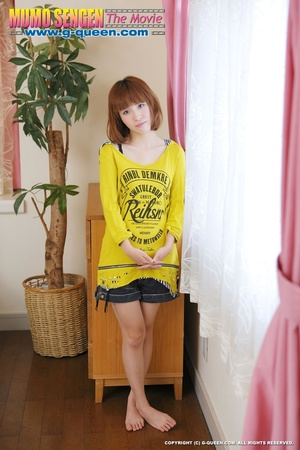 Busty Japanese teen in yellow jumper taking off her lovely panties - XXXonXXX - Pic 5