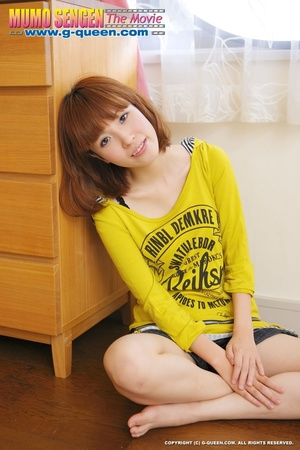 Busty Japanese teen in yellow jumper taking off her lovely panties - XXXonXXX - Pic 7