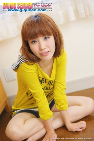 Busty Japanese teen in yellow jumper taking off her lovely panties - XXXonXXX - Pic 8