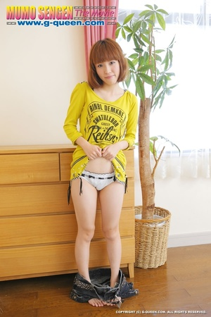 Busty Japanese teen in yellow jumper taking off her lovely panties - XXXonXXX - Pic 11