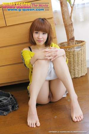 Busty Japanese teen in yellow jumper taking off her lovely panties - XXXonXXX - Pic 17