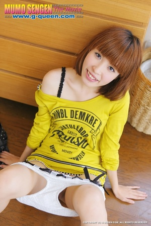 Busty Japanese teen in yellow jumper taking off her lovely panties - XXXonXXX - Pic 18