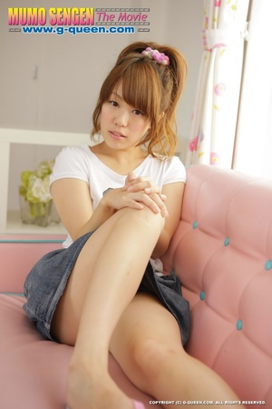 Naughty red ponytailed Japanese teen exposing her tiny pussy - XXXonXXX - Pic 1