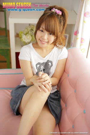 Naughty red ponytailed Japanese teen exposing her tiny pussy - XXXonXXX - Pic 2
