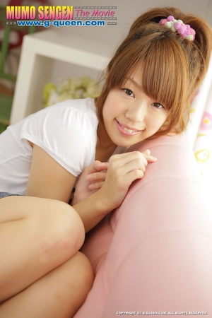 Naughty red ponytailed Japanese teen exposing her tiny pussy - XXXonXXX - Pic 3