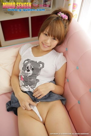 Naughty red ponytailed Japanese teen exposing her tiny pussy - XXXonXXX - Pic 11