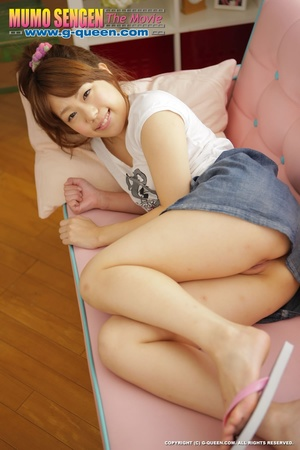 Naughty red ponytailed Japanese teen exposing her tiny pussy - XXXonXXX - Pic 18