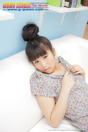 Asian teen with a topknot undresses to demonstrate her tiny body - XXXonXXX - Pic 2