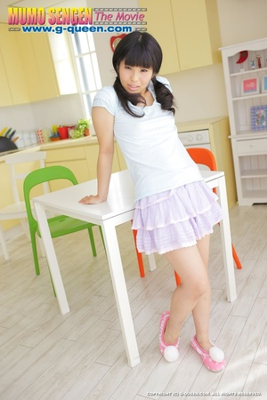 Pigtailed Japanese ten gal takes off her white panties - XXXonXXX - Pic 3