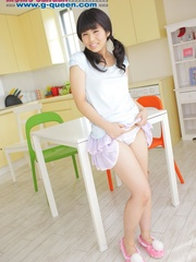 Pigtailed Japanese ten gal takes off her white - XXXonXXX - Pic 4