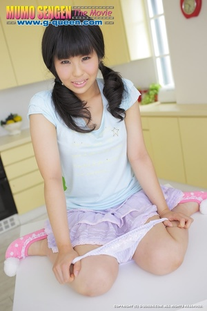 Pigtailed Japanese ten gal takes off her white panties - XXXonXXX - Pic 5