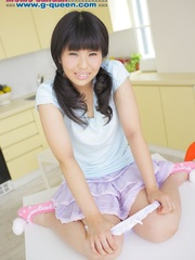 Pigtailed Japanese ten gal takes off her white - XXXonXXX - Pic 6