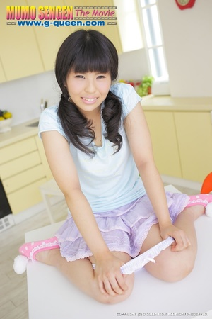 Pigtailed Japanese ten gal takes off her white panties - XXXonXXX - Pic 6