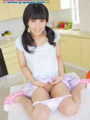 Pigtailed Japanese ten gal takes off her white - XXXonXXX - Pic 7