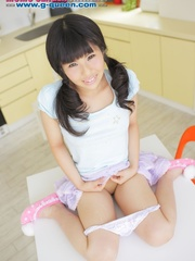 Pigtailed Japanese ten gal takes off her white - XXXonXXX - Pic 8