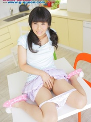 Pigtailed Japanese ten gal takes off her white - XXXonXXX - Pic 9
