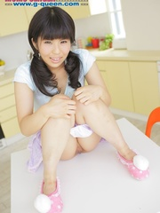 Pigtailed Japanese ten gal takes off her white - XXXonXXX - Pic 11