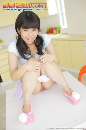 Pigtailed Japanese ten gal takes off her white panties - XXXonXXX - Pic 11
