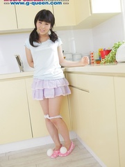 Pigtailed Japanese ten gal takes off her white - XXXonXXX - Pic 13