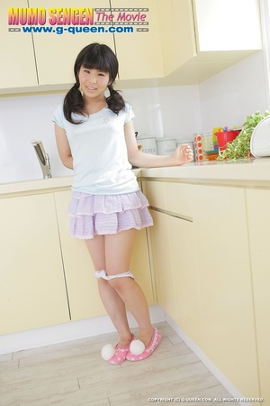 Pigtailed Japanese ten gal takes off her white panties - XXXonXXX - Pic 13