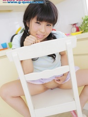 Pigtailed Japanese ten gal takes off her white - XXXonXXX - Pic 16