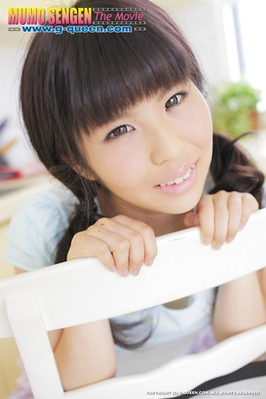 Pigtailed Japanese ten gal takes off her white panties - XXXonXXX - Pic 17