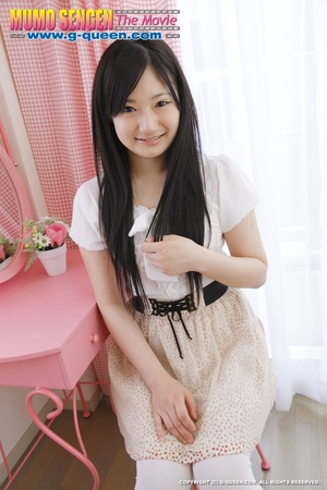 Long-haired teen in stockings loves to show off her Asian pussy - XXXonXXX - Pic 1