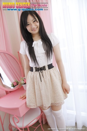 Long-haired teen in stockings loves to show off her Asian pussy - XXXonXXX - Pic 2
