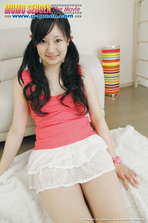 Long-haired teen in stockings loves to show off her Asian pussy - XXXonXXX - Pic 15